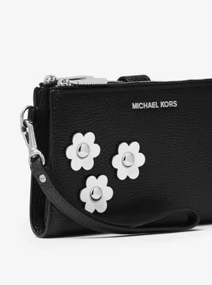 MICHAEL Michael Kors Adele Floral Applique Leather Smartphone Wallet