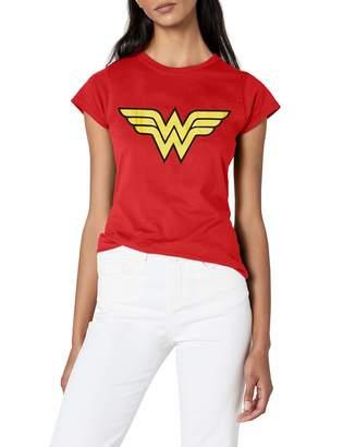88d3bd47 DC Comics Women's Wonder Woman Logo Fitted T-Shirt