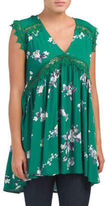Juniors Australian Designed V Neck Mini Dress