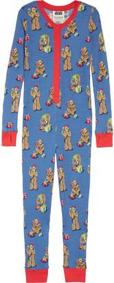 Star Wars Munki Munki x TM) Christmas Chewbacca Fitted One-Piece Pajamas