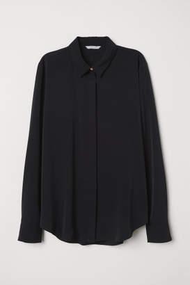 H&M Long-sleeved Blouse - Black