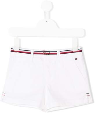 Tommy Hilfiger Junior stripe waist chino shorts