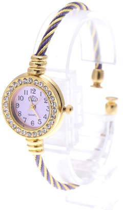 スマイルプロジェクト SMILE PROJECT ゴールド基調の小さめバングルウォッチ ワイヤー腕時計 AV037-PLPL