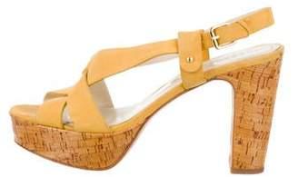 Barneys New York Barney's New York Suede Platform Sandals