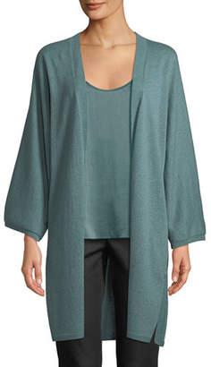 Eileen Fisher Italian Cashmere Long Kimono Cardigan, Petite