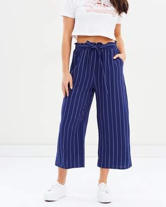 MinkPink Pinstripe Paperbag Culotte Pants