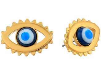 Tory Burch Evil Eye Stud Earrings