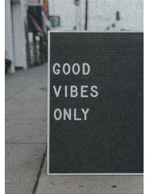 East Urban Home Good Vibes Only Gray Area Rug East Urban Home