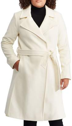 Lauren Ralph Lauren Wool Blend Wrap Coat