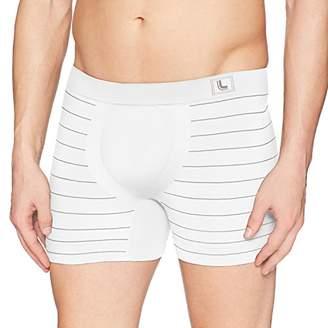Lupo Micro Modal Striped Seamless Men's Boxer Brief Underwear