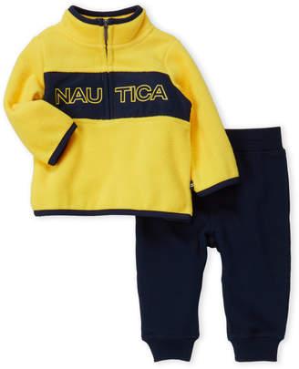 Nautica Newborn Boys) Two-Piece Logo Fleece Pullover & Joggers Set
