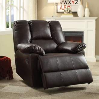 ACME Furniture ACME Oliver Glider Recliner, Gray Leather-Aire