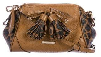 Burberry Leather Tassel Crossbody Bag