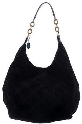 Lanvin Quilted Suede Hobo