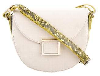 Jason Wu Python-Trimmed Jaime Mini Saddle Bag