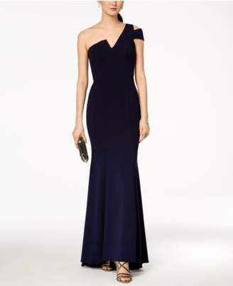 Betsy & Adam One-Shoulder A-Line Gown