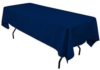 Gee Di Moda Rectangle Tablecloth - 60 x 102 Inch - Navy Blue Rectangular Table Cloth for 6 Foot Table in Washable Polyester - Great for Buffet Table