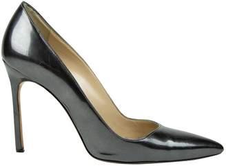 Manolo Blahnik Anthracite Leather Heels