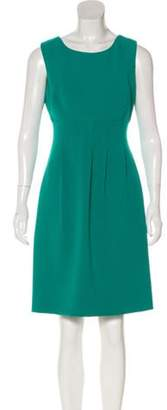 Lela Rose Pleated Sheath Dress Turquoise Pleated Sheath Dress