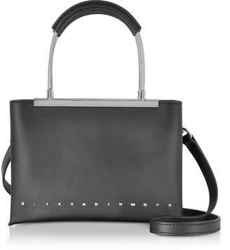 Alexander Wang Dime Black Leather Small Satchel Bag w/Shoulder Strap
