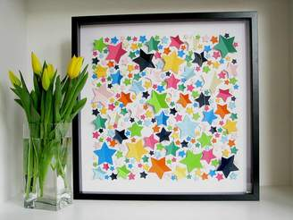 all in a square Personalised Vibrant Stars Framed Picture