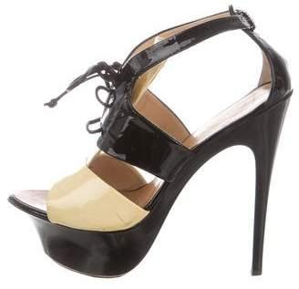 Giuseppe Zanotti Patent Leather Platform Sandals