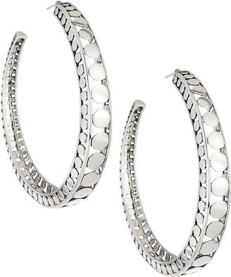 John Hardy Dot Silver Open Hoop Earrings