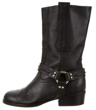Proenza Schouler Round-Toe Leather Boots