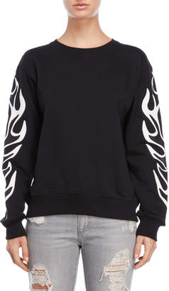 Each X Other Flame Graphic Sweatshirt