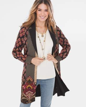 Chico's Chicos Damask-Print Jacket