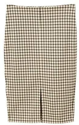 MANGO Opening pencil skirt
