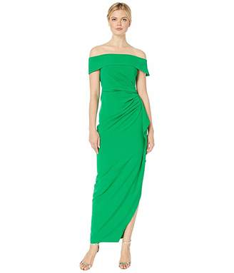 Vince Camuto Off the Shoulder Gown w/ Ruffled One Side