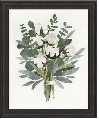 Cut Paper Bouquet Iv by Victoria Borges Framed Art
