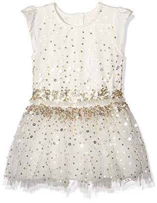 Pumpkin Patch Girl's Tulle Sequin Dress, White (French Vanilla), (Size:2)