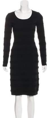 Alaia Wool Knit Knee-Length Dress
