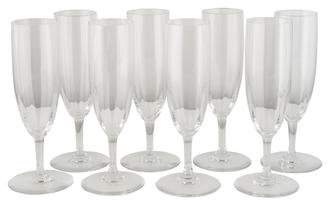 Baccarat Set of 8 Montaigne Champagne Flutes