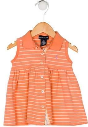 Ralph Lauren Girls' Stripe Flare Dress