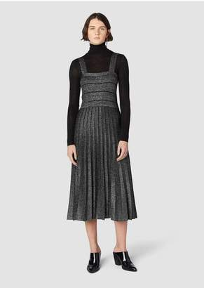 Derek Lam 10 Crosby Pleated Lurex Knit Dress
