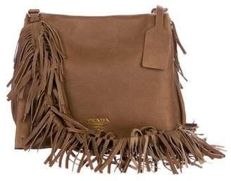 Prada Fringe Cervo Crossbody Bag