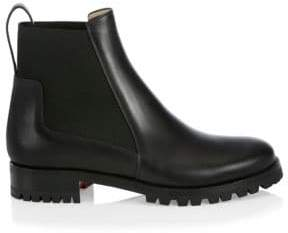 Christian Louboutin Marcharoche Leather Ankle Boots