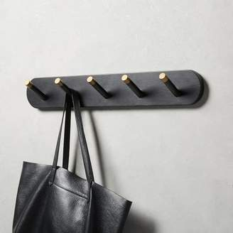 west elm Mid-Century Hook Rack - Black