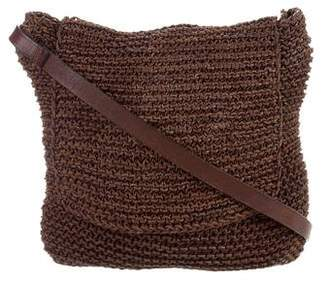 Barneys New York Barney's New York Woven Leather Crossbody Bag