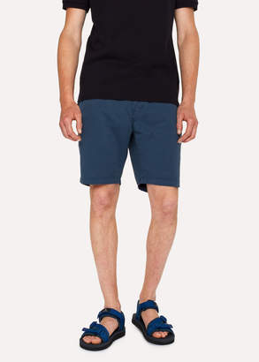 Paul Smith Men's Navy Garment-Dyed Stretch Pima-Cotton Shorts