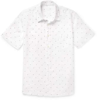 120% - Embroidered Polka-Dot Linen Shirt