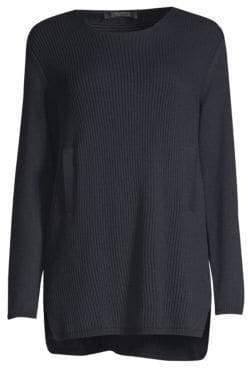 Max Mara Fuoco Virgin Wool Tunic Sweater