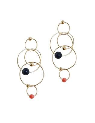 Zimmermann Lapis & Coral Link Earring