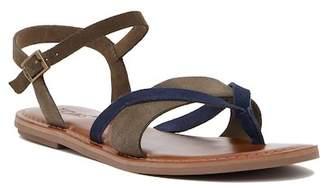 Toms Lexie Colorblock Suede Thong Sandal