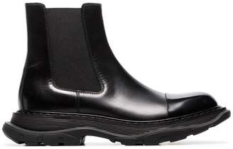 Alexander McQueen Chunky soled leather Chelsea boots
