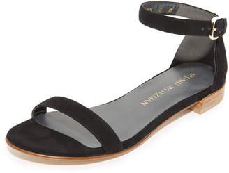 Stuart Weitzman Nudist Flat Sandals $355 thestylecure.com