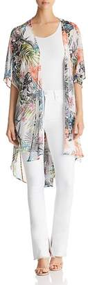 Status by Chenault Floral-Print Duster Kimono